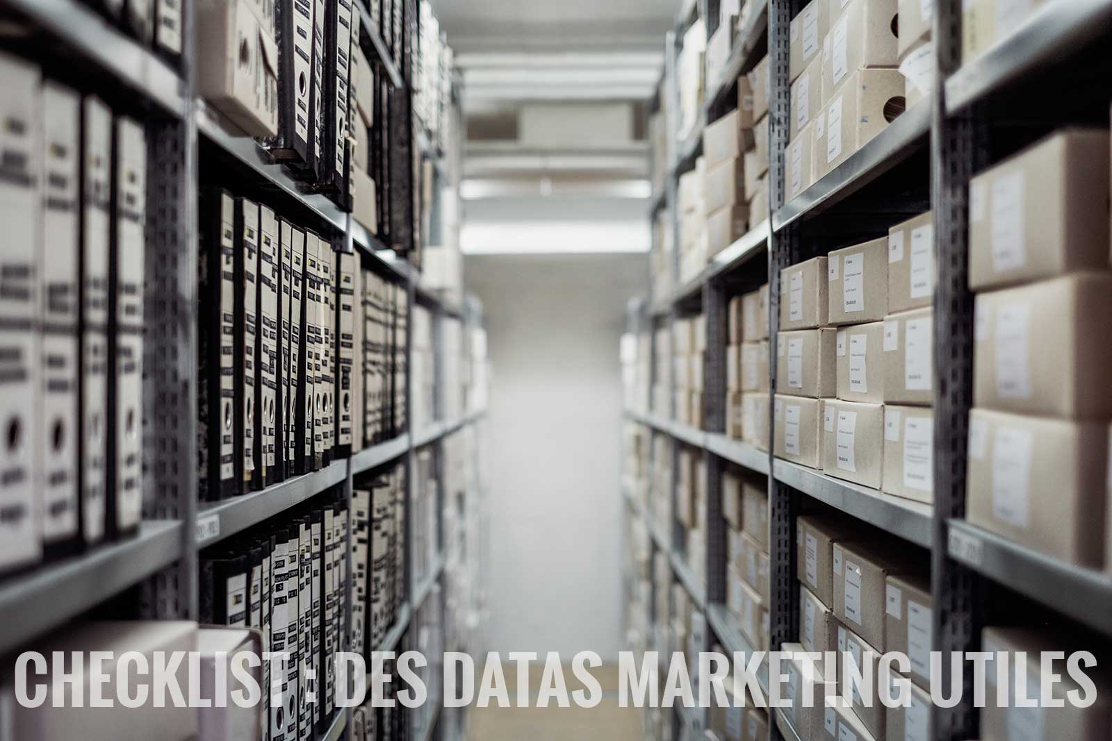 data marketing utiles checklist